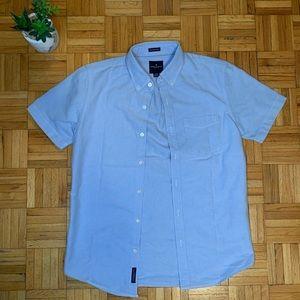 American Eagle Blue Shortsleeve Button Up Shirt